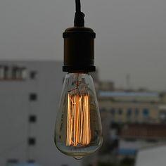 Retro Country Loft Style Edison Vintage Industrial Pendant Light Lamp with E27/E26 Base,Lustres e Pendentes