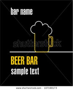 Beer bar - stock vector