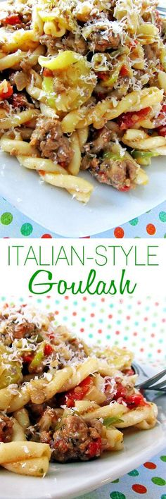 A hearty and delicious Italian goulash that comes together quickly and warms you from the inside out!