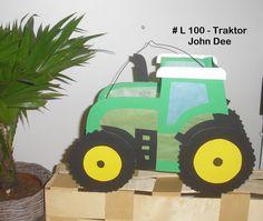 Herbst - Laterne St. Martin Traktor (3 - 5 Jahre) - ein Designerstück von Bastelkoenigin-de bei DaWanda