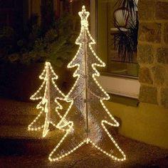 Die klare Silhouette des #Tannenbaums ist für den Außenbereich geeignet und wirkt sehr dekorativ. Der Tannenbaum strahlt ein angenehmes Licht ab, das für eine einladende #Atmosphaere zu #Weihnachten sorgt.