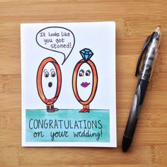 Wedding Card Funny Pun by PaisleyandHazel on Etsy