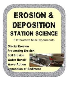 Erosion Deposition Station Science Lab Activities: These experiments will demonstrate some of todays environmental problems we are facing.