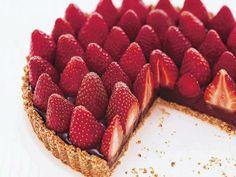 Chocolate strawberry tart!