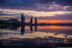 Sunrise in Bay of Baku by RustamHuseynov