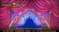 Be Our Guest Celebration Curtain. #BeautyAndTheBeast #celebration #TheatreWorld #StageBackdrop #Dance #DanceRecital