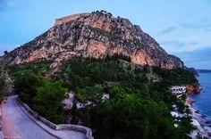 Palamidi castle with view to Arvanitia beach - Nafplio - Peloponnese - Greece