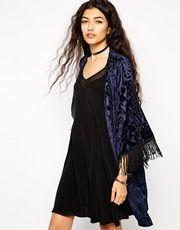 Liquorish Kimono in Royale Velvet