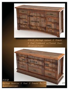 Green Gables Heritage Designs Designs; Barnwood Sideboard and Buffet;  Rustic, Cabin, Lodge, Western, Southwest Furniture; The Refuge Lifestyle