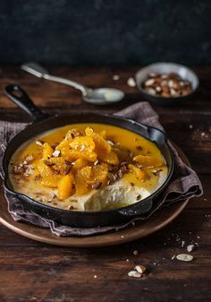 baked yoghurt with spicy oranges
