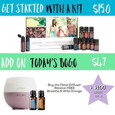 I am so so so so very excited about the BOGO for today!  . Buy 1 Petal Diffuser ($47) get 1 Breathe AND 1 Wild Orange FREE ($31 savings)! . That's two amazing oils AND a diffuser for just $47 wholesale. This offerexpires TONIGHT at 11:59pm MST so take action ASAP! . How about I sweeten the deal for you even more?  This is the LAST WEEK to take advantage of dōTERRAs New Year New You Promotion: buy $100 in essential oils this month (any starter kit will qualify) $100 in essential oils in March…