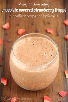 Skinny Chocolate Covered Strawberry Frappé (McDonald's Copycat)