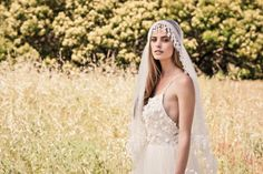 We take a look at the boho style beauties on offer from Australian bridal label Bo and Luca. Bridal Veils And Headpieces, Bridal Braids, Headpiece Wedding, Bridal Gowns, Wedding Veil, Bridal Hair, Dream Wedding, Celebrity Wedding Dresses, Wedding Dresses 2014
