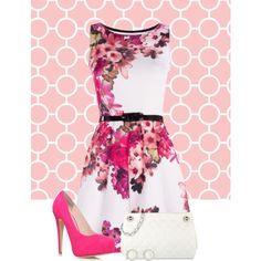 """""""Pink and white"""" by suzzanne567 on Polyvore"""