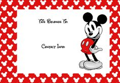 FREE Disney Mickey printable luggage tag