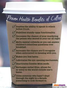 Coffee - the miracle drug!
