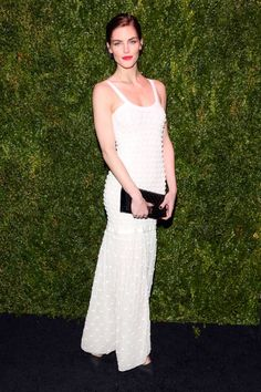 Hilary Rhoda at Chanel's Tribeca Film Festival party. See all the best dressed looks from the night here.