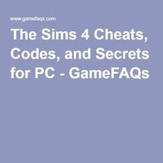 44 Best Sims 4 cheats images in 2017 | Sims 4 cheats, Sims 4