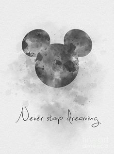 Art print never stop dreaming quote, mickey mouse, disney, wall art, b & Mickey Mouse Nursery, Mickey Mouse Art, Mickey Mouse And Friends, Mickey Mouse Wallpaper Iphone, Cute Disney Wallpaper, Cute Cartoon Wallpapers, Bear Wallpaper, Emoji Wallpaper, Wallpaper Iphone Cute