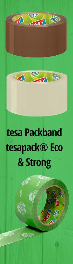 Robust und umweltfreundlich. Starkes Packband von tesa zum Bündeln und Verschließen von schweren Kartons. Jetzt in unserem #büroshop24 Online-Shop.