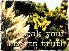♥ speak your hearts truth ♥