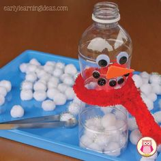 Having trouble thinking of new fillers for your sensory table? Here are a few winter sensory table ideas that your kids will LOVE. These sensory bin fillers will be perfect for your winter, snow, and snowman themed units in preschool, pre-k and kindergarten. #Cottonball<3