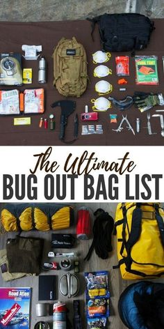 The Ultimate Bug Out Bag List - This article comes with an incredible base tool for building a bugout bag. It takes into consideration every preppers base needs like shelter, first aid, water and food. From here you can also add your weight and it will ca Survival Food, Outdoor Survival, Survival Prepping, Survival Skills, Survival Quotes, Survival Stuff, Survival Supplies, Urban Survival, Camping Survival