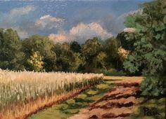 Spring wheatfield - Full-frontal image, unframed