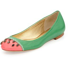 kate spade new york jade watermelon ballerina flat ($190) ❤ liked on Polyvore