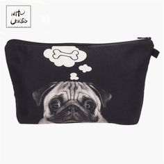 Fashion printing Dog Bone Makeup Bags Cosmetic Organizer Bag Pouchs For Travel Ladies Pouch Women Cosmetic Bag Makeup Storage Bag, Makeup Bag Organization, Bag Storage, Makeup Bags, Travel Cosmetic Bags, Travel Toiletries, Purses For Sale, Purses And Bags, Women's Bags