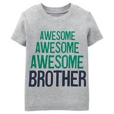 Just One You™Made by Carter's® Toddler Boys' Awesome Brother Tee - Grey 18M