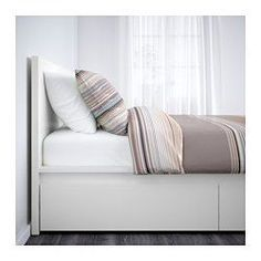 MALM Sängstomme, hög, med 4 sänglådor, vit, Luröy - 160x200 cm - Luröy - IKEA