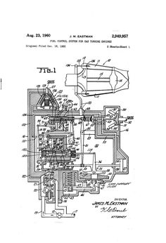 Patent US2949957 - Fuel control system for gas turbine engines - Google Patents