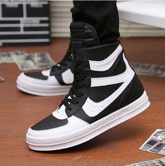 2014 new dance shoes men hip hop shoes Hot sale men's sneakers Black/White Free shipping AA111