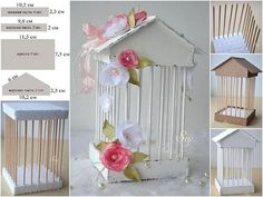 How to make decorative cage / Culinary UniverseWhat a lovely vintage thing!Discover recipes, home ideas, style inspiration and other ideas to try.Cardboard,bbq sticks, and sytrafome☆ home cherry ☾: Diy & Craft Diy And Crafts, Crafts For Kids, Arts And Crafts, Paper Crafts, Diy Y Manualidades, Ideas Para Fiestas, Bird Cages, Diy Décoration, Diy Art