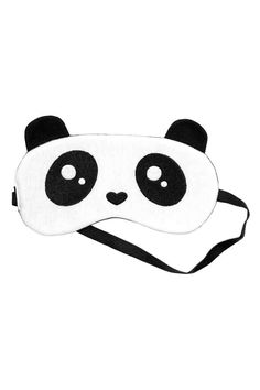 Padded sleep mask in cotton jersey with embroidery and a printed… Easy Sewing Projects, Sewing Hacks, Felt Crafts, Diy And Crafts, Panda Party, Diy Mask, Sleep Mask, Diy For Kids, Diy Fashion
