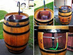 Simple DIY Keg Sink For Your Backyard - Fine Gardening