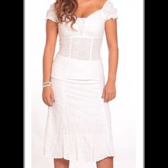 2 piece set (blouse/shirt). 100 % cotton. Sizes:  8-16.  Colors:   white, turquoise and grape. Dresses