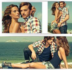 Brazil / Colcci Summer 2012 Campaign With Alessandra Ambrosio & Ashton Kutcher