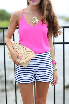 Stripes & hot pink