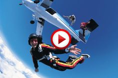 Airplane vs parachutist #crazy, #extreme, #airplanes, #aviation, #jumps, #videos, #pinsland, https://apps.facebook.com/yangutu