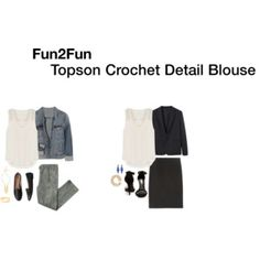 Fun2Fun Topson Crochet Detail Blouse