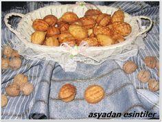 asyadan esintiler: Kozalak ve Ceviz şeklinde kurabiye yapımı