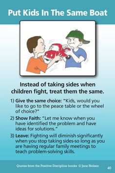 If you can't stand to stay out of your children's fights, and decide to beco. - If you can't stand to stay out of your children's fights, and decide to become involved, the mo - Gentle Parenting, Parenting Advice, Kids And Parenting, Peaceful Parenting, Sibling Fighting, Love And Logic, Positive Discipline, Kids Discipline, Kids Behavior