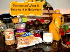 Important info about folic acid, hydration and helpful nutrition tips for the first trimester of #pregnancy and beyond