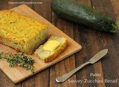 Savory coconut flour zucchini bread, moist and delicious!