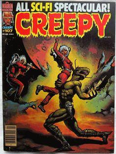 Simply too cool...!  Creepy Magazine #107 May 1979 VF Warren Publishing Vintage Horror Comics #Cyberontix