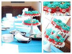 dr. seuss baby shower favors thing 1 and thing 2 | these darling thing 1 and thing 2 cupcakes were really so simple to ...