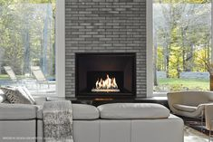 The true winter temps have yet to bestow their wrath upon us. Be prepared when that happens. Choose a Valor fireplace to heat your home and stay warm this winter. Foyers, Valor Fireplaces, Gas Fireplaces, Gas Insert, Hearth And Home, Murano Glass, Stay Warm, Cottage, Patio