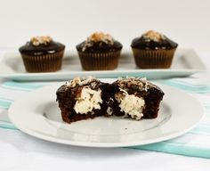 Mounds Cupcakes- I have made these and they were SO GOOD.  √